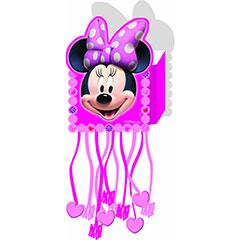 Piñata pequeña Minnie Mouse, plegable papel cartón