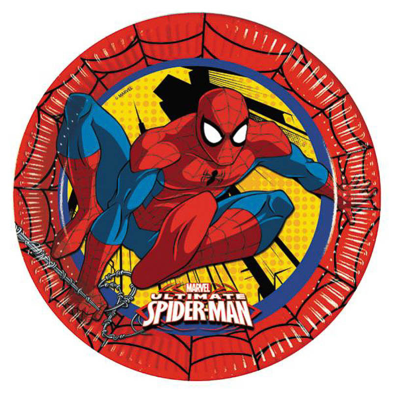 Platos Spiderman 23 cm, Pack 8 u.