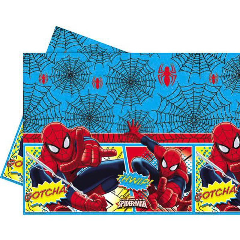 Mantel Spiderman 180 x 120 cm plástico, Pack 1 u.