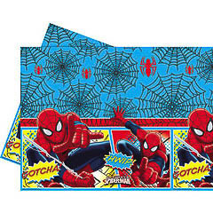 Mantel Spiderman 180 x 120 cm plástico, Pack 1 u.