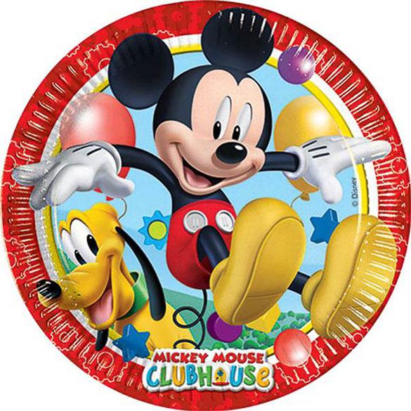 Platos Mickey Mouse 23 cm, Pack 8 u.