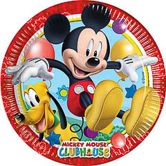 Platos Mickey Mouse 23 cm, Pack 8 u.