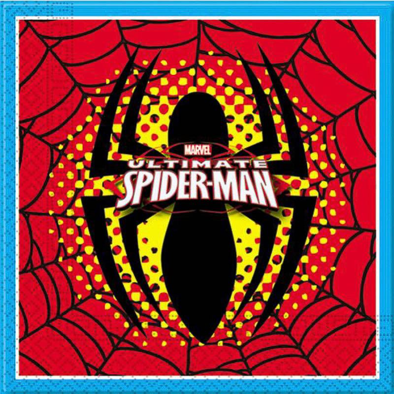Servilletas Spiderman 33 x 33 cm, Pack 20 u.
