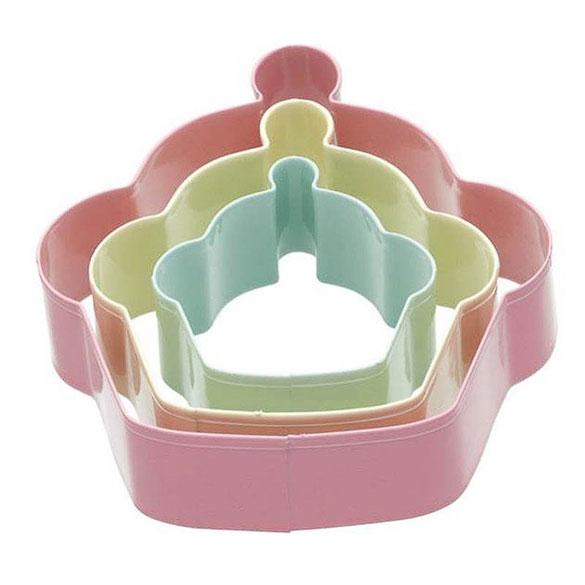 Cortadores de galletas con forma de cupkaes, Set 3 u.