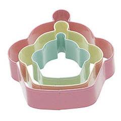 Cortadores de galletas con forma de cupkaes, Set 3 u. - Ítem