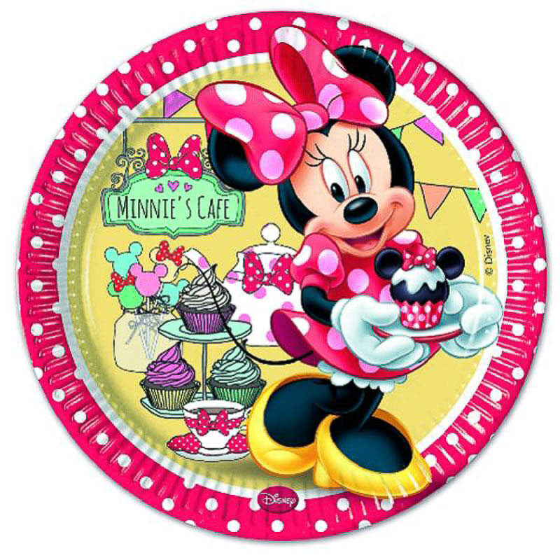 Platos Minnie Mouse 23 cm, Pack 8 u.