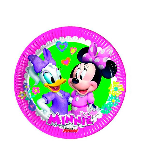 Platos Minnie Mouse 20 cm, Pack 8 u.