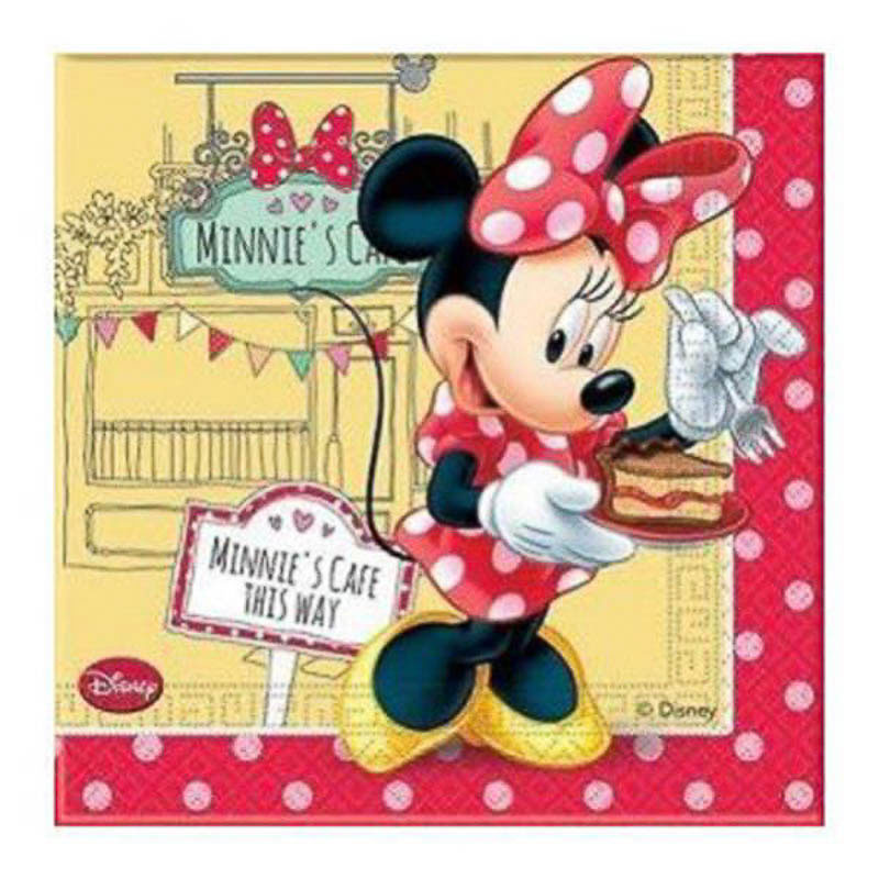 Servilletas Minnie Mouse 33 x 33 cm, Pack 20 u.