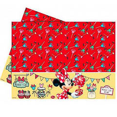 Mantel Minnie Mouse 180 x 120 cm plástico, Pack 1 u.