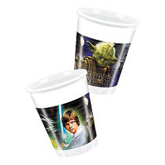 Vasos Star Wars plástico 200 ml, Pack 8 u.