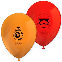 Globos de Látex Star Wars colores surtidos. Pack de 8 unidades