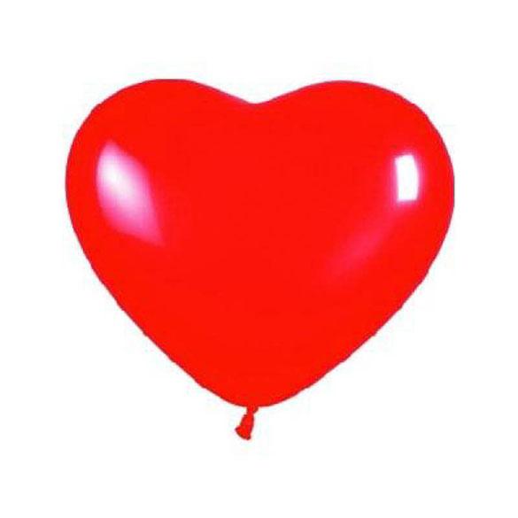 Globos de Látex forma corazón rojos. Pack de 12 unidades