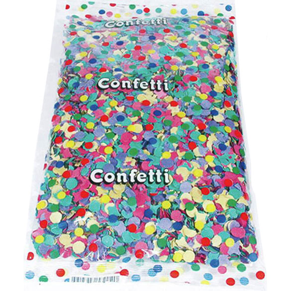 Confeti multicolor de papel