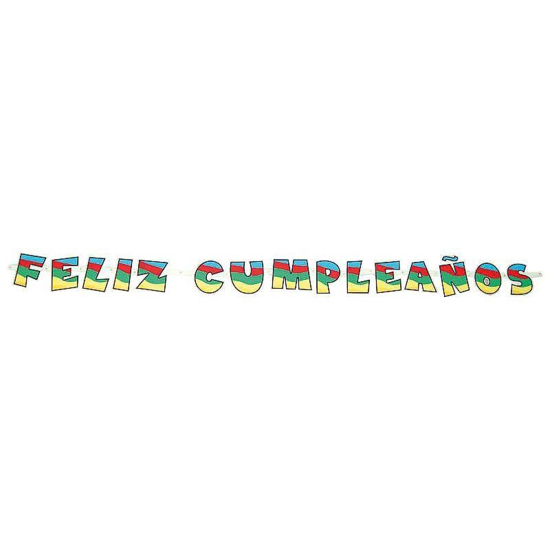Guirnalda articulada Feliz Cumpleaños de cartón