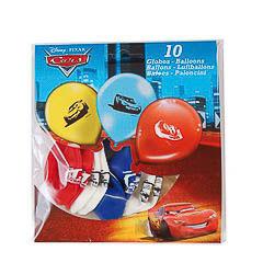 Globos de Látex Cars colores surtidos. Pack de 8 globos