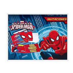 Invitaciones cumpleaños Spiderman, Pack 6 u.