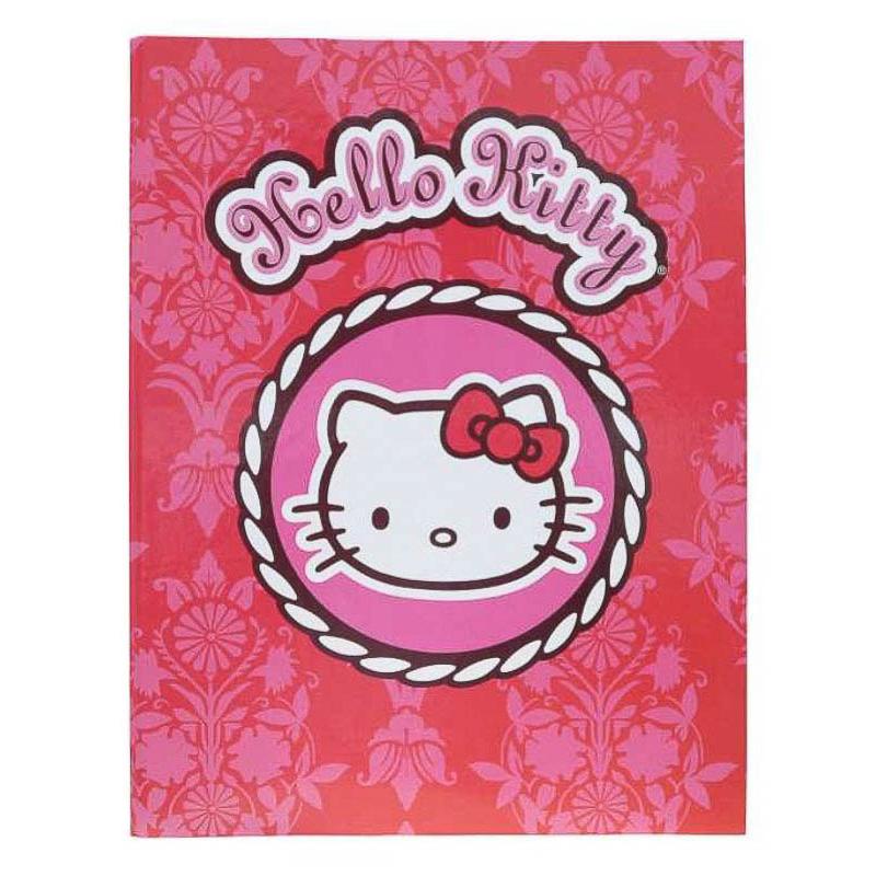 Carpeta de anillas cartón plastificado Hello Kitty mod. círculo