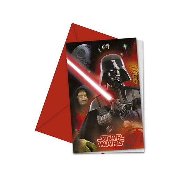 Invitaciones cumpleaños Star Wars