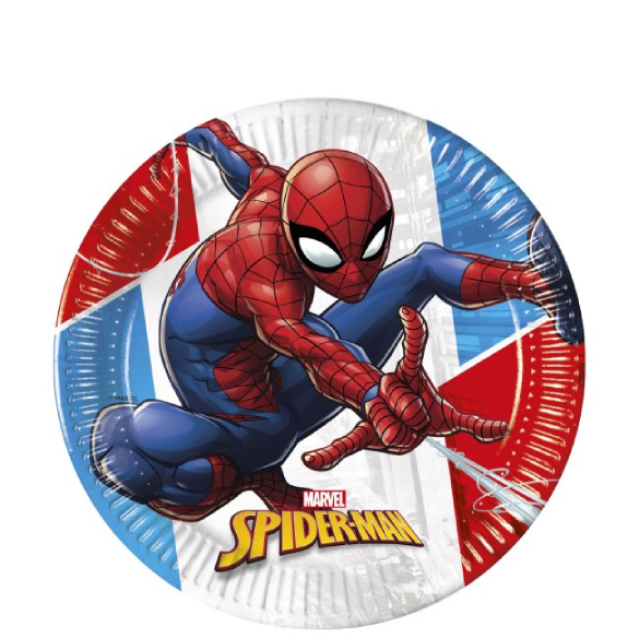 Platos Spiderman 20 cm, Pack 8 u.