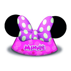 Gorros cono forma Minnie Mouse Rosa, Pack 6 u.