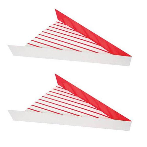 Triángulos para pizza de cartón, Pack 8 u.