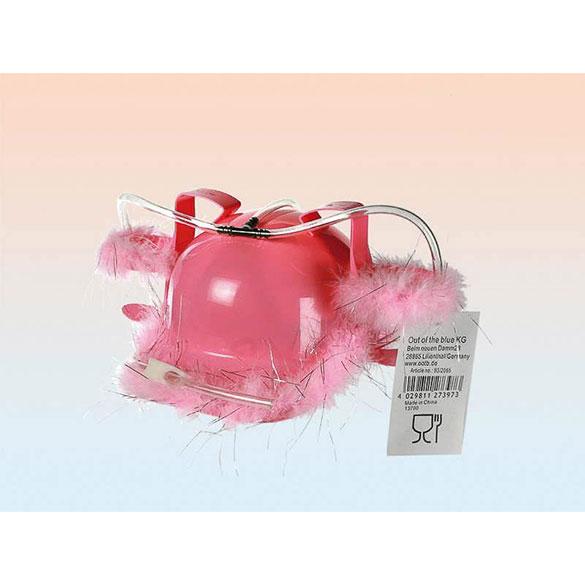 Casco Porta latas rosa