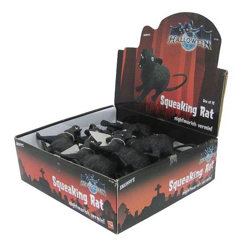 Rata negra de plástico