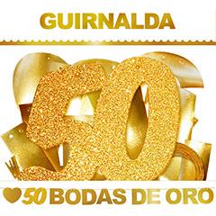 Guirnalda articulada Bodas de Oro, 50 años