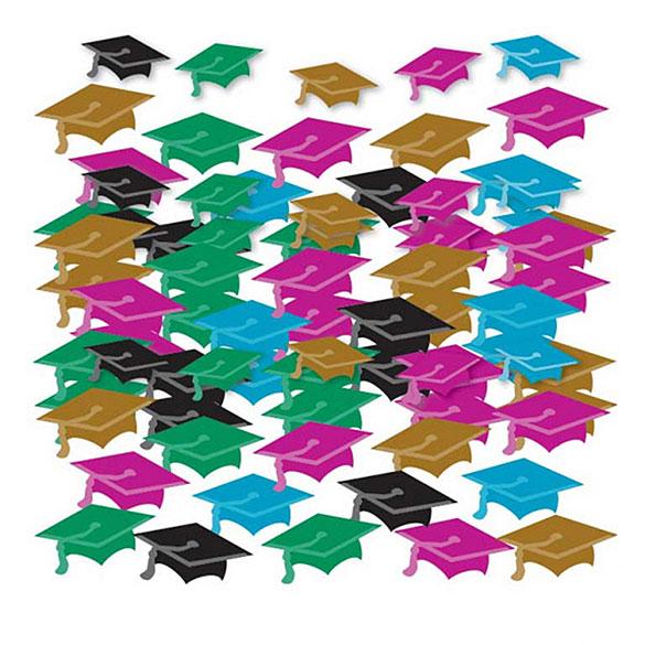 Confeti metálico graduación