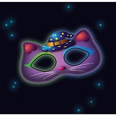 Máscara floral luz química brilla en la oscuridad