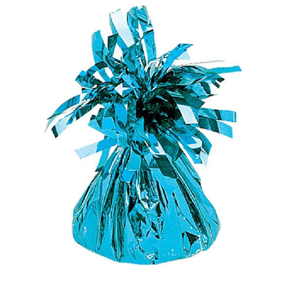 Pesa para globos inflados con gas helio con flecos