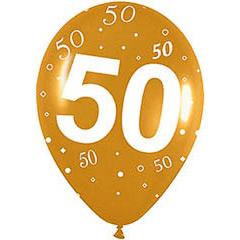 Globos de Látex 50 aniversario. Pack 10 unidades