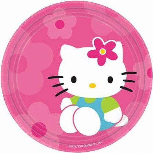 Platos Hello Kitty 17,80 cm, Pack 8 u.