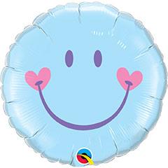 Globo Smile, sonrisa feliz azul celeste