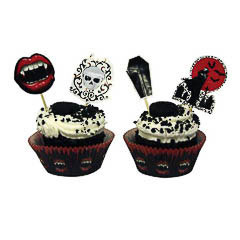 Decoración cupcakes Halloween, Pack 24 u.