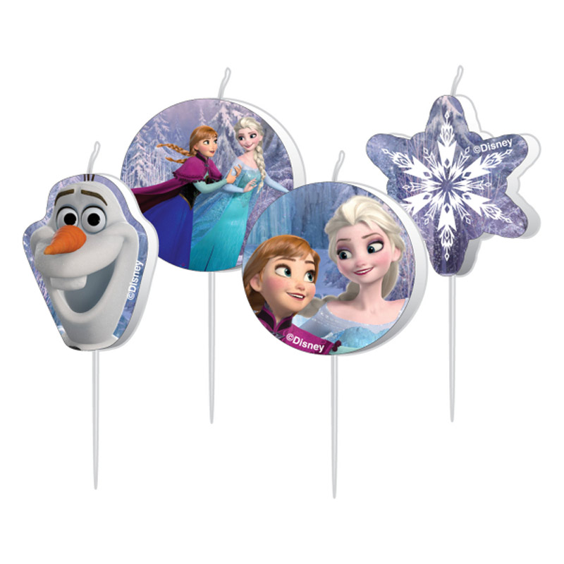 Velas Frozen, Pack 4 u