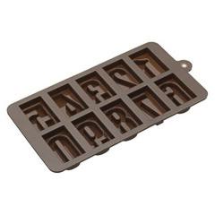 Moldes silicona números para chocolate 22,00 x 11,00 cm