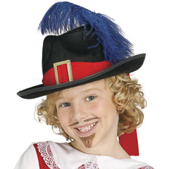 Sombrero fieltro mosquetero infantil