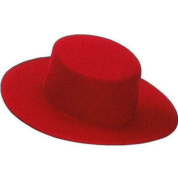Sombrero cordobés rojo de fieltro