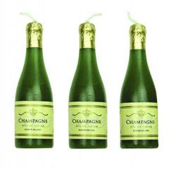 Velas botella de champagne, Pack 6 u.