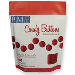 Candy Melts PME color rojo