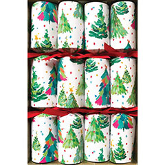 Brushstroke trees, Christmas Crackers, 25 cm, Pack 8 u.