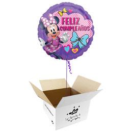 Globo Minnie Mouse Feliz Cumpleaños en caja sorpresa