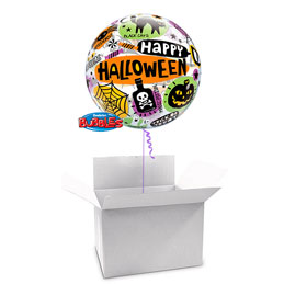 Globo Burbuja Halloween en caja sorpresa