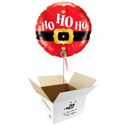 Globo Santa Claus o Papá Noel, Ho Ho Ho en caja sorpresa