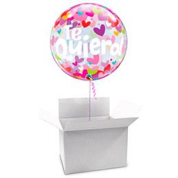 Globo Burbuja Te quiero en caja sorpresa