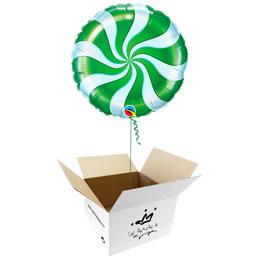 Globo Caramelo verde en caja sorpresa