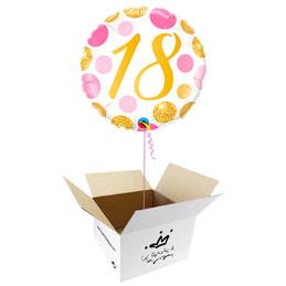 Globo 18 años en caja sorpresa