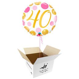 Globo 40 años en caja sorpresa