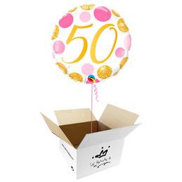 Globo 50 años en caja sorpresa